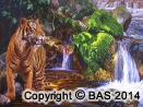 wildlife art,wildlife art paintings,oil painting,bas,art of bas,tiger painting,oil painting on canvas,sumatran tiger,rainforest,john muir,wilderness