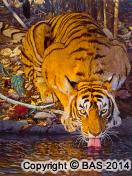 Tiger painting,tiger oil painting,bengal tiger,art of bas,India